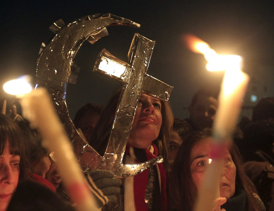 Worshippers marked occasion in Tahrir Square
