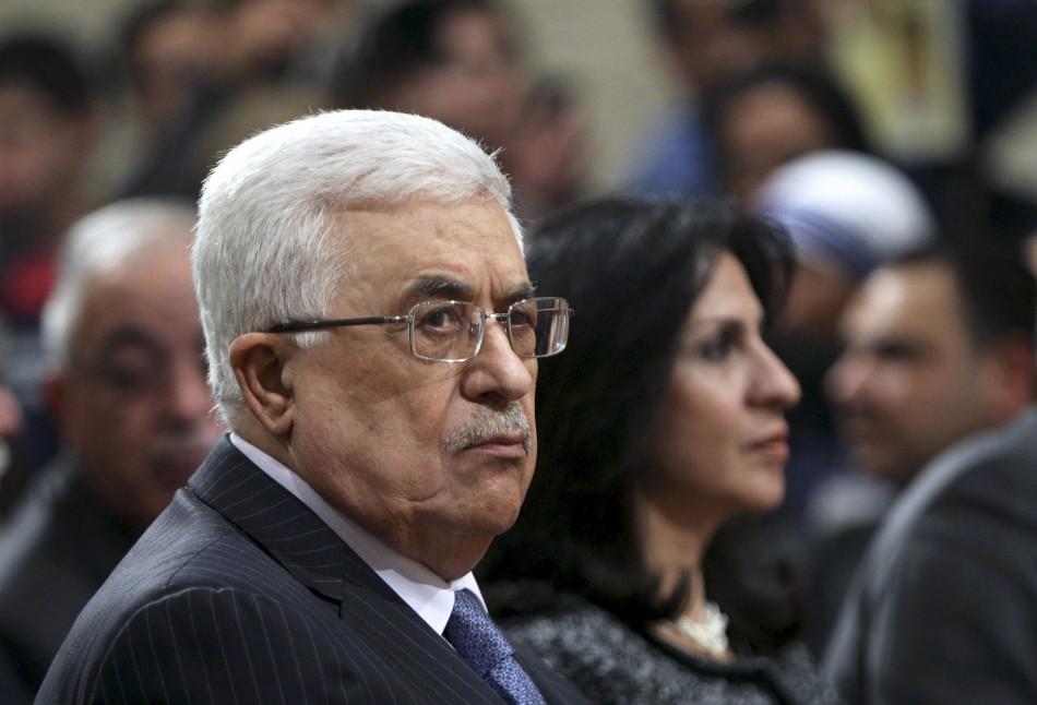 Palestinian President Mahmoud Abbas attends Midnight Mass in Bethlehem