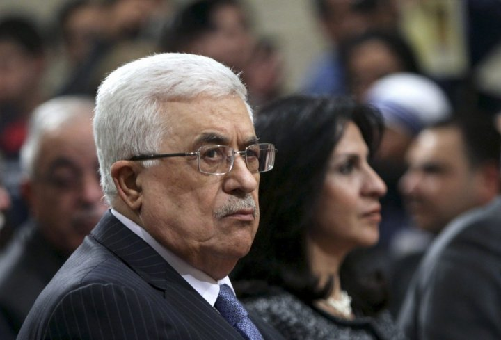 Palestinian President Mahmoud Abbas attends Midnight Mass in Bethlehem