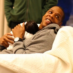 Blue Ivy Carter and Jay Z