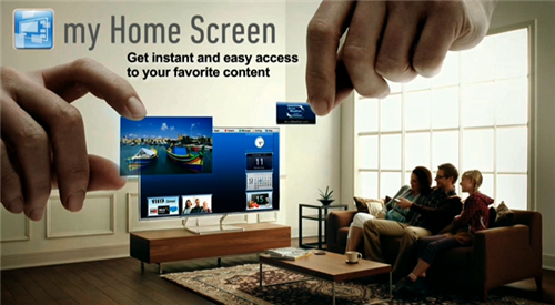 CES 2013 Panasonic home screen