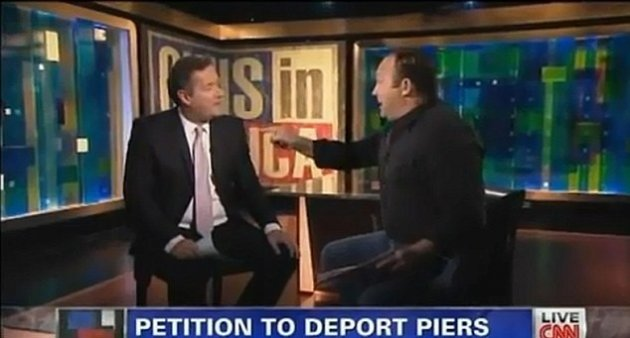 Piers Morgan and Alex Jones