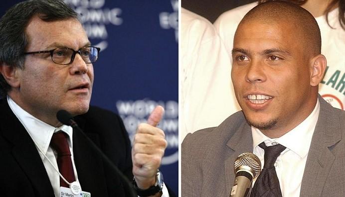 Martin Sorrell (l) and Ronaldo
