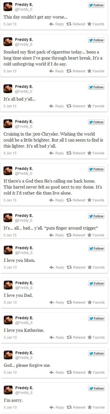 Freddy E tweets