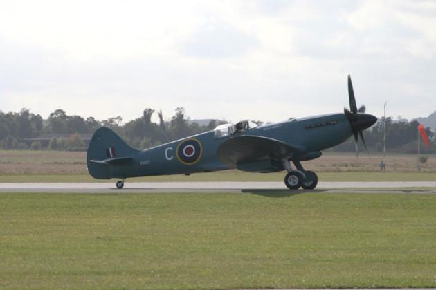 Spitfire before crash