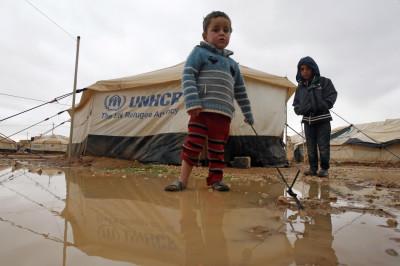 Syrian refugee camp in Jordan