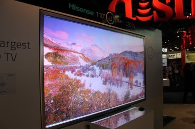Hisenses Worlds Largest Ultra HD TV