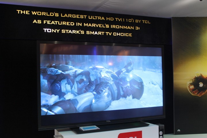 "TCL's ""World's Largest"" Ultra HD TV - Iron Man's choice"