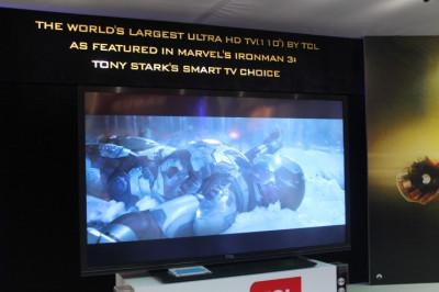 TCLs Worlds Largest Ultra HD TV - Iron Mans choice