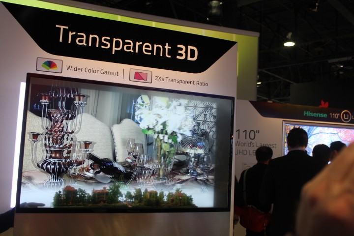 Hisense see-through 3D TV