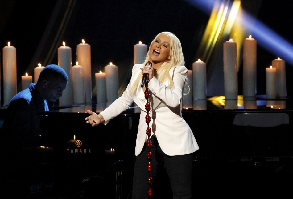 Christina Aguilera at the 2013 Peoples Choice Awards in Los Angeles