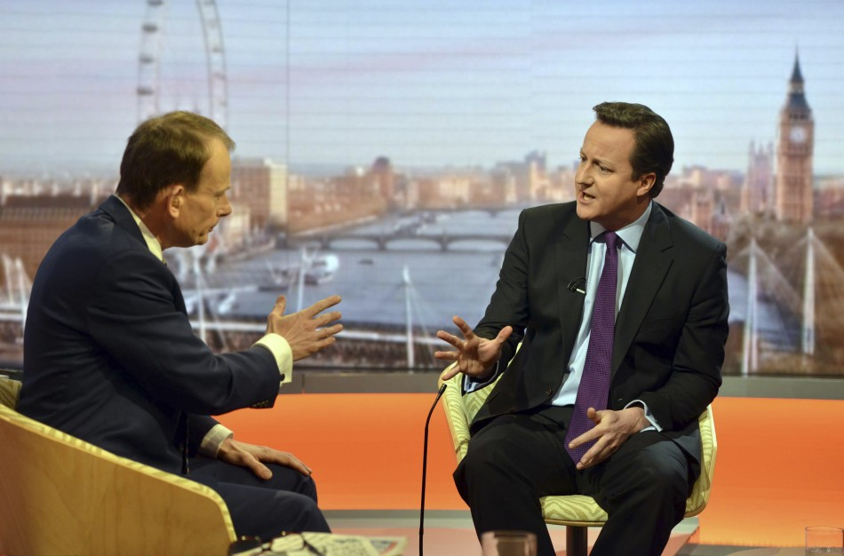 Andrew Marr quizzing David Cameron