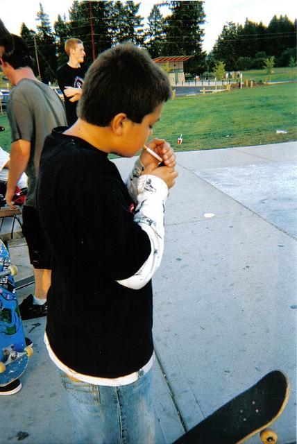 Teenage smoker