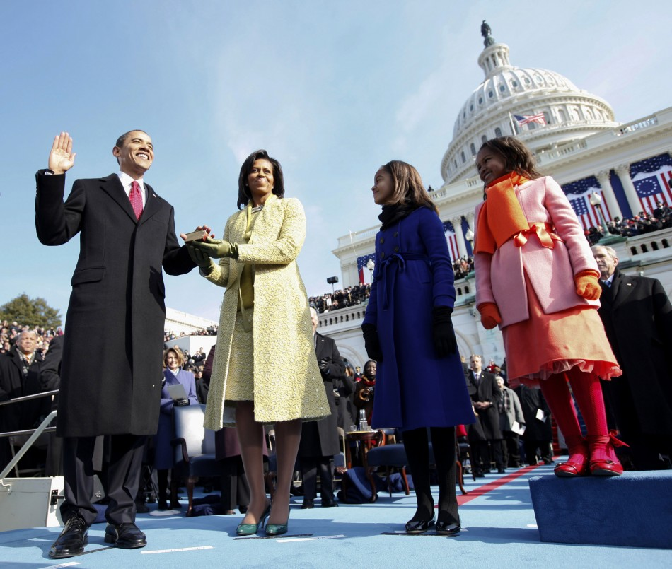 Barack Obama takes his first oath of office in 2009 (Reuters)