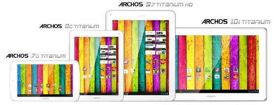Archos Titanium tablet range