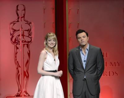 Emma Stone and Seth McFarlane