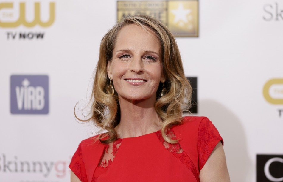 Actress Helen Hunt arrives at the 2013 Critics' Choice Awards in Santa Monica