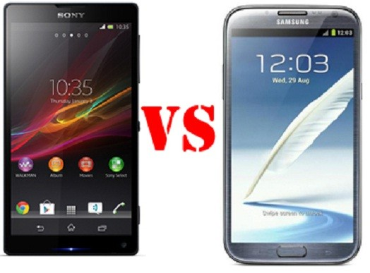 Galaxy Note 2 Vs Sony Xperia Z