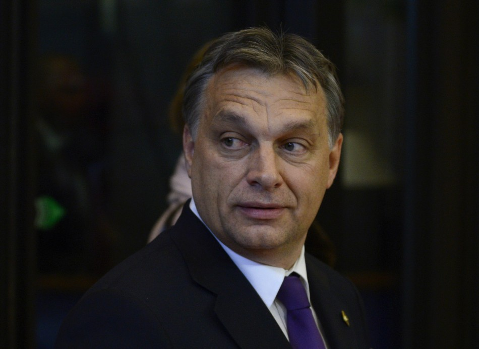 Hungary's PM Orban arrives for EU leaders summit discussing the European Union's long-term budget in Brussels