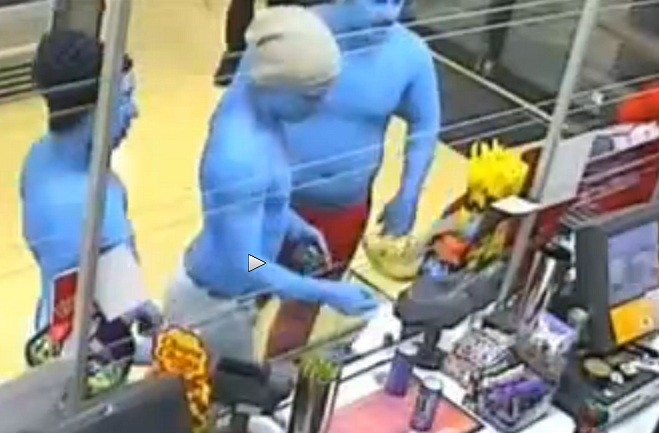 Smurfs on crime spree