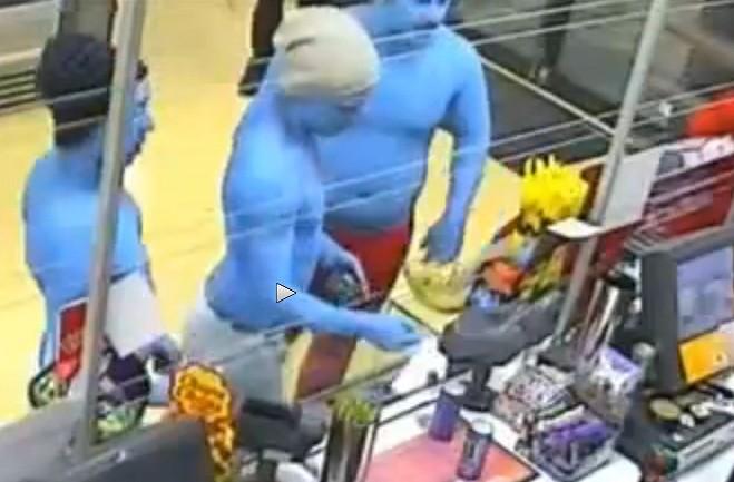 Smurfs on crime spree