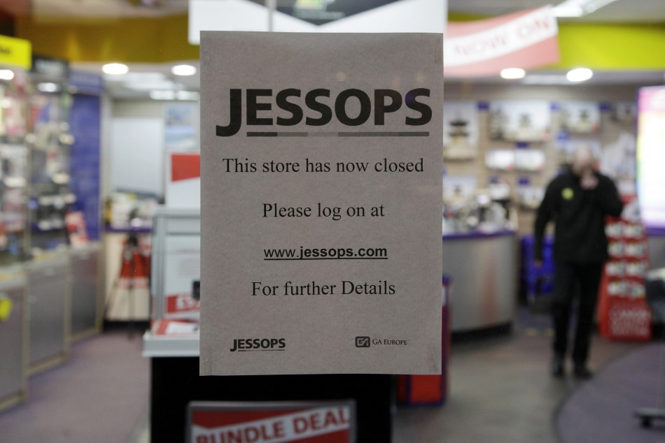 A closed Jessops store in south London