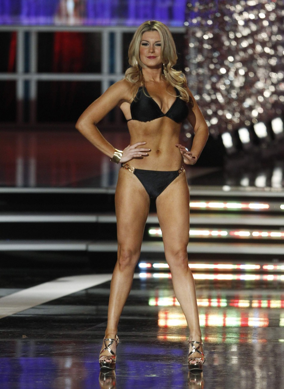 Mallory Hytes Hagan, Miss New York, competes in the Lifestyle  Fitness portion of the Miss America Pageant in Las Vegas