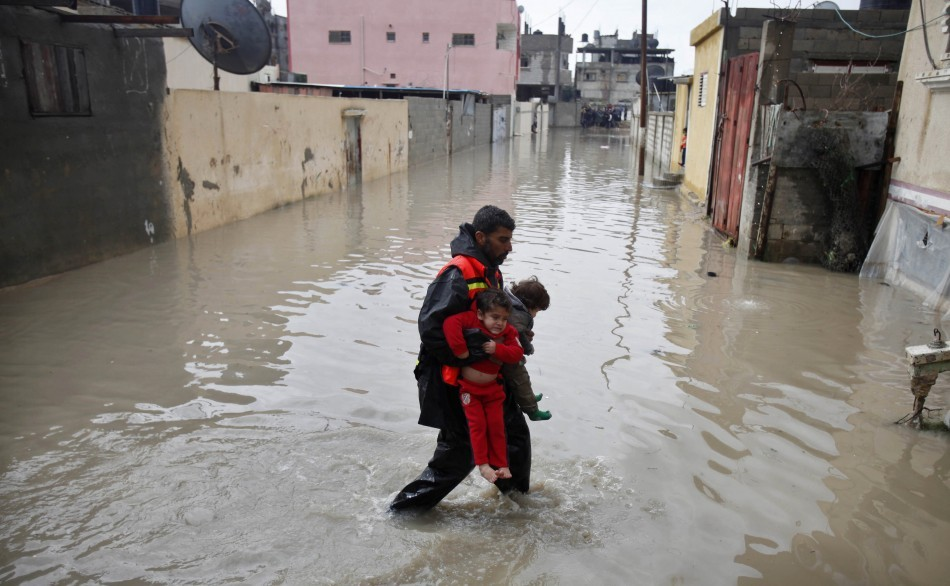 Rising sea levels around the world, one of the results of global warming, cause billions of pounds in damage