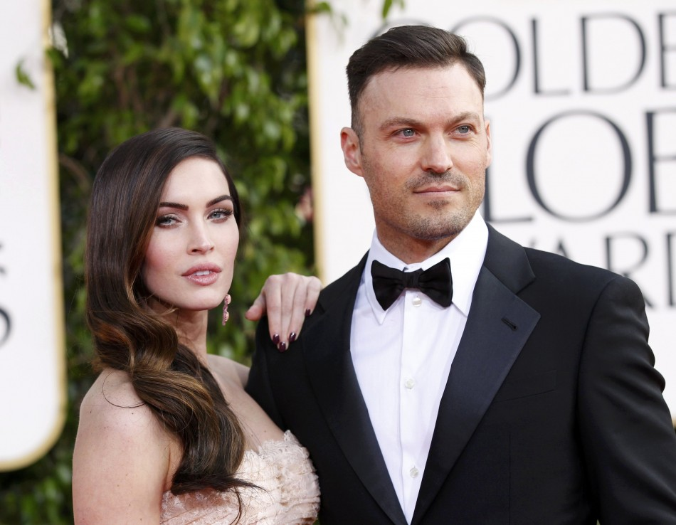 Actress Megan Fox and her husband Bryan Austin Green at the 70th annual Golden Globe Awards in Beverly Hills