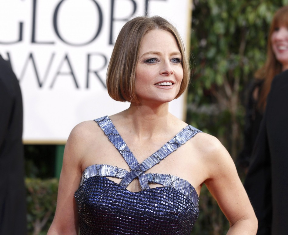 Actress Jodie Foster arrives at the 70th annual Golden Globe Awards in Beverly Hills