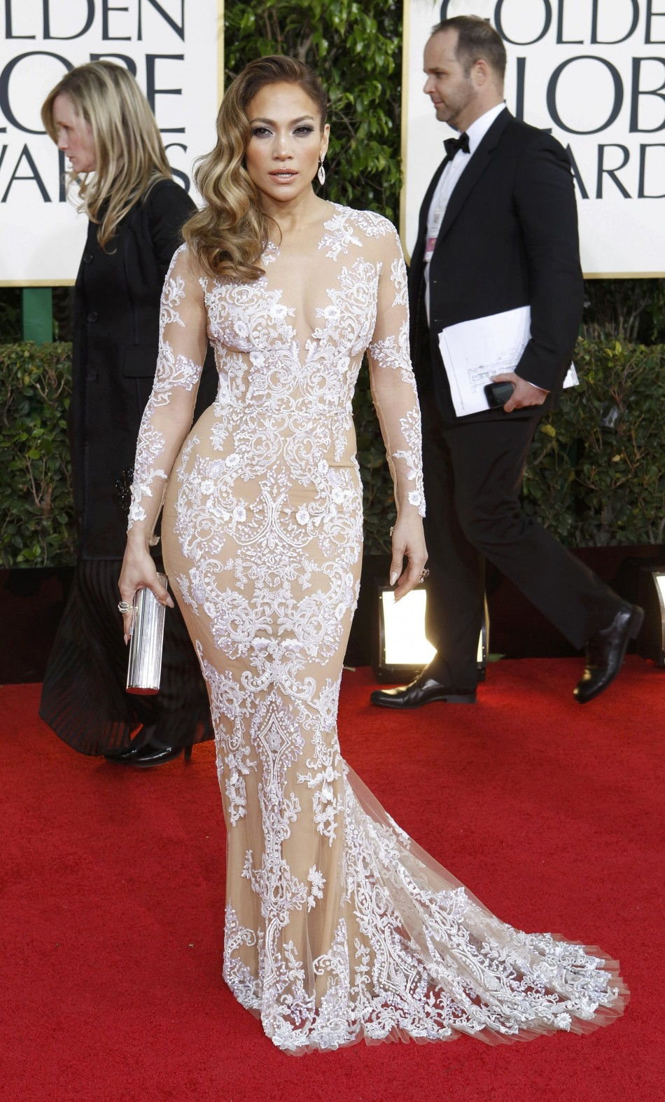 Singer Jennifer Lopez arrives at the 70th annual Golden Globe Awards in Beverly Hills