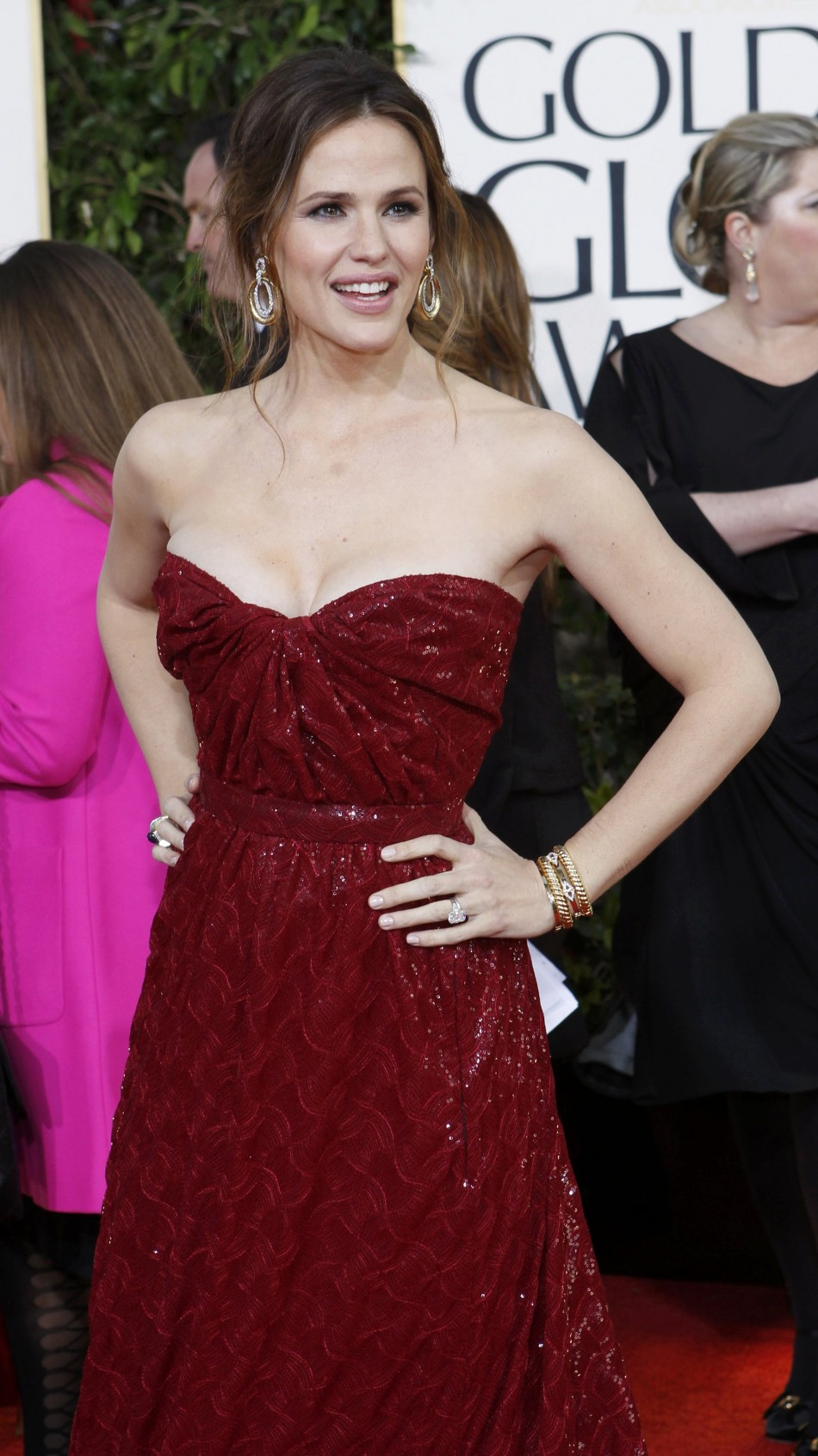 Actress Jennifer Garner arrives at the 70th annual Golden Globe Awards in Beverly Hills