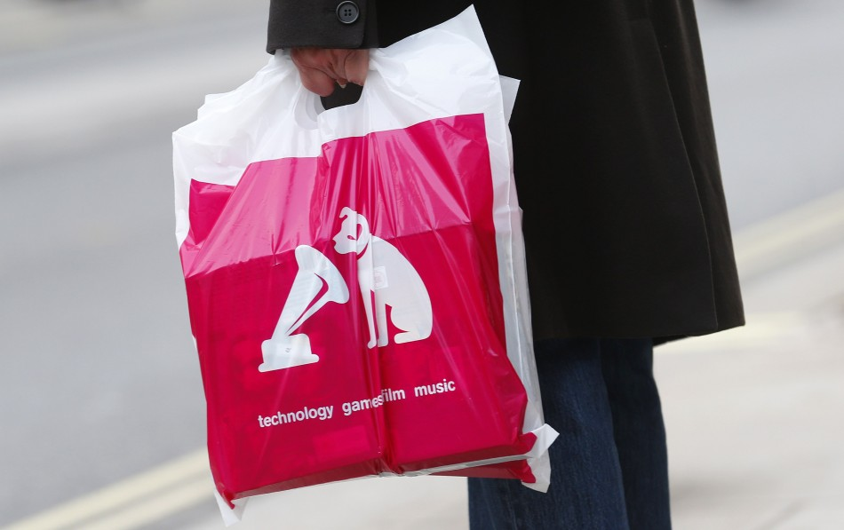 A bag from an HMV shop