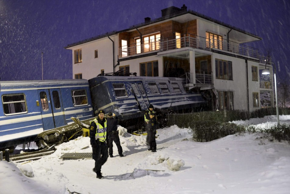 Train Crash Stockholm