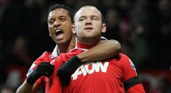 Wayne Rooney and Nani