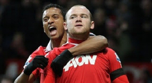 Wayne Rooney and Nani