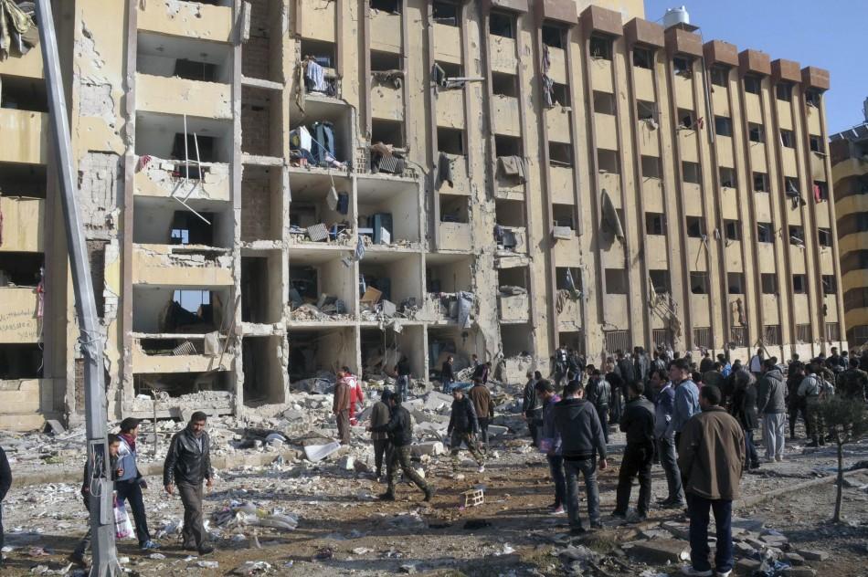 Syria Aleppo University blasts