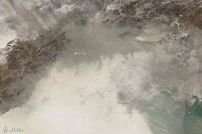 Satellite shot of Beijing