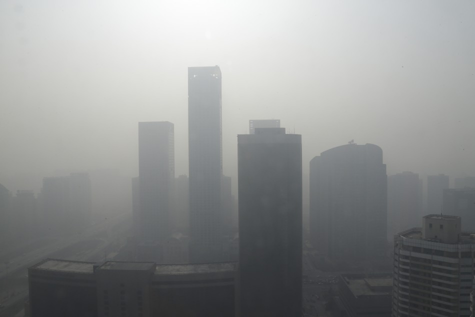 Air quality in Beijing was far above hazardous levels over the weekend (Reuters)