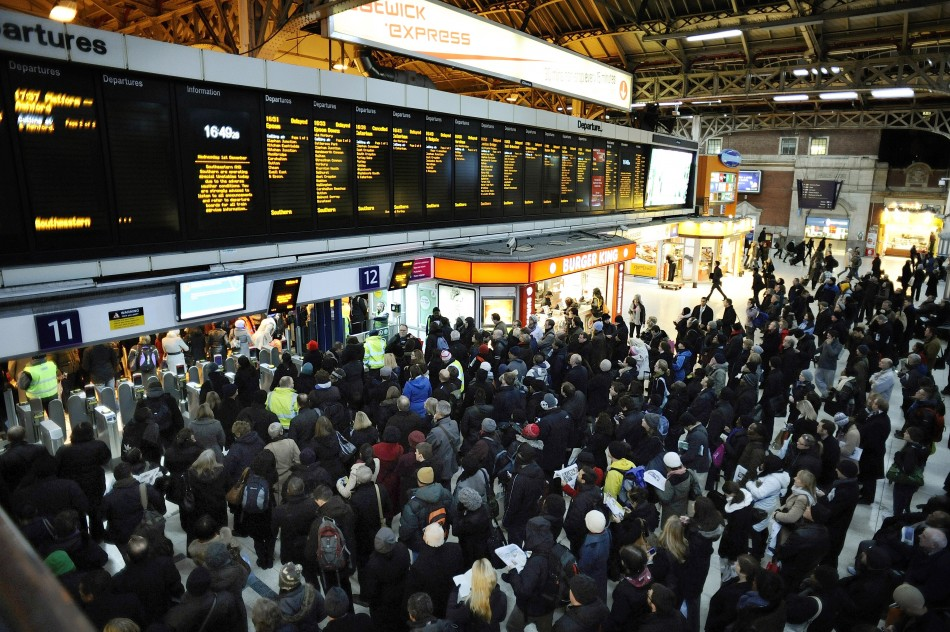 Commuters had their morning severely disrupted by the fire (Reuters)
