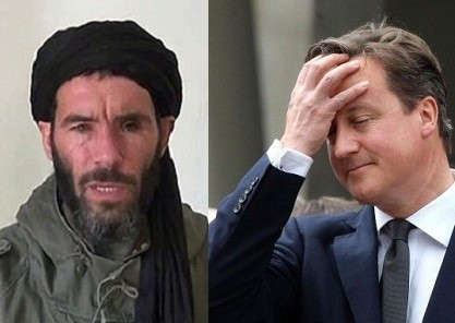 Algerian terror leader Mokhtar Belmokhta and David Cameron