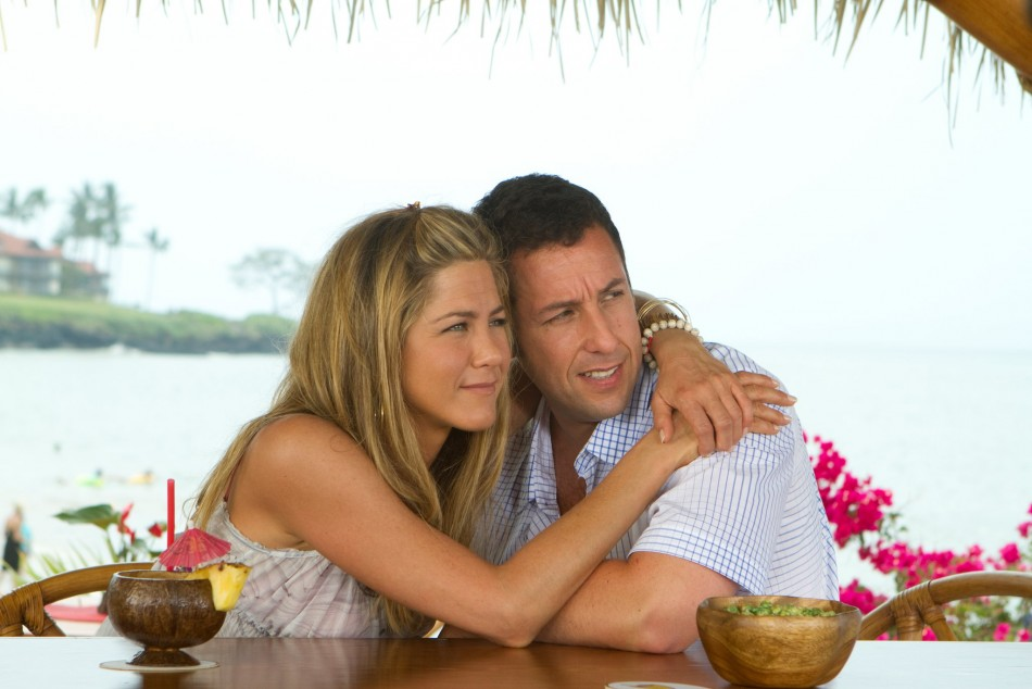 Jennifer Aniston and Adam Sandler - £64m