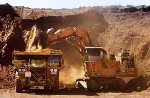 A dump truck at Rio Tinto's Pilbara operation in Australia