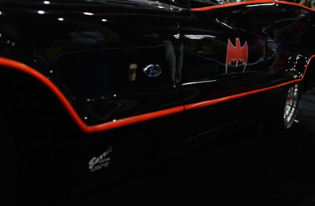 The 19ft black, bubble-topped car, was customised by George Barris, who created the caped crusader's getaway in just 15 days in 1966