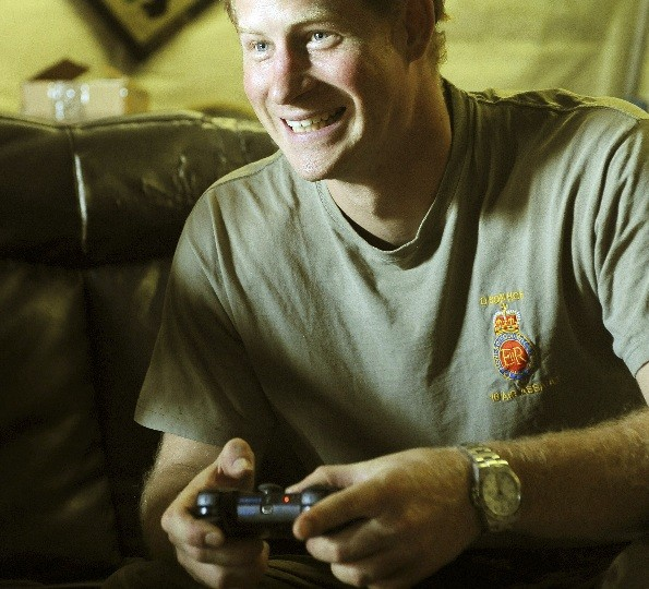 Prince Harry has fun in Camp Bastion