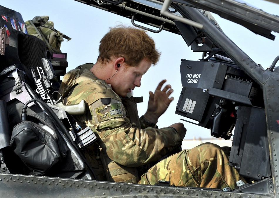 Prince Harry readies for action