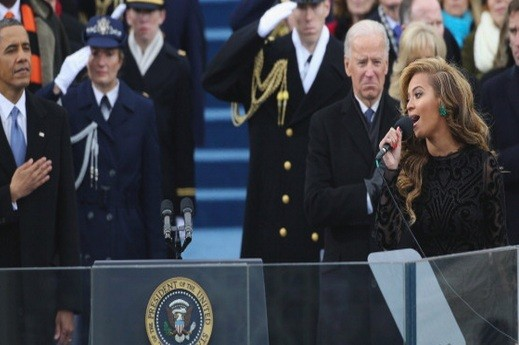 Beyonce sings at Presidential Inauguration
