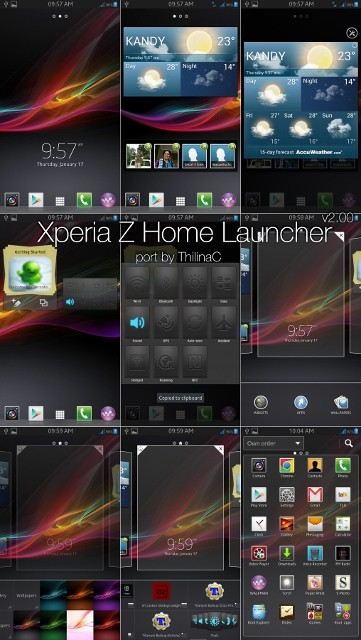 Sony Xperia Z Home Launcher Ported to Galaxy S2, S3, Note and Note 2