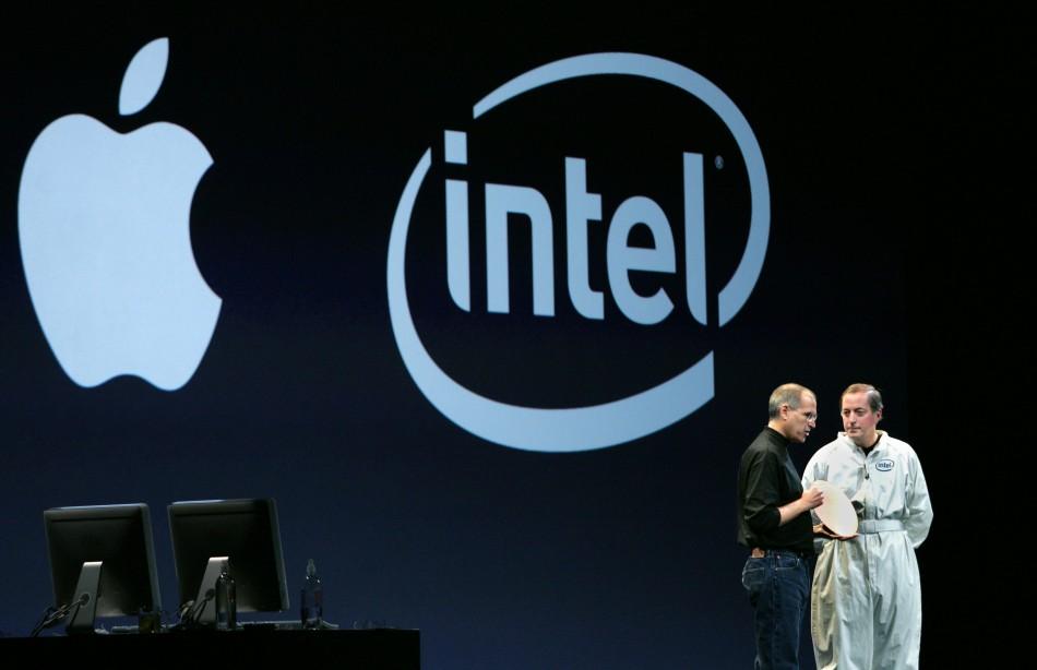 Apple's Steve Jobs and Intel's CEO Paul Otellini