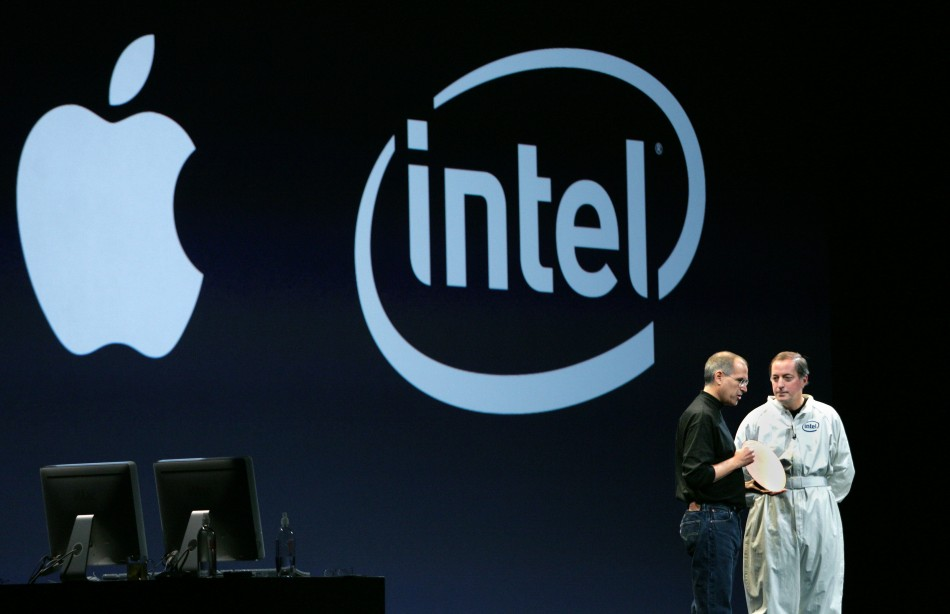 Apple's Steve Jobs and Intel's CEO Paul Otellini